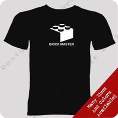 Brick Master T Shirt Mini Fig Custom Geek Nerd Gamer Funny Unique Fun Lego Tee | eBay