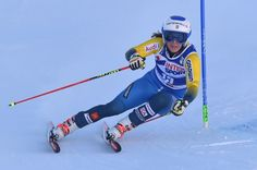 Sweden's Maria Pietilae-Holmner competes during the FIS Alpine World Cup Women Giant Slalom on December 10, 2016 in Sestriere, Italian Alps.  / AFP / GIUSEPPE CACACE