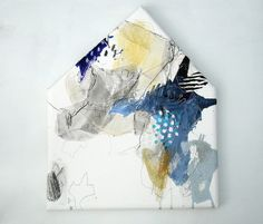 "Mayako Nakamura, "" Ijip'pari no yoake "" (2011) Oil on canvas, ink, charcoal, pastel 640x530x40mm"