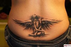 Engel - Wazkatattoo - Our tattoos , Rose Tattoos, Sexy Tattoos, Body Art Tattoos, Wing Tattoos, Angel Tattoo For Women, Back Tattoo Women, Tribal Sleeve Tattoos, Sleeve Tattoos For Women, Guardian Angel Tattoo