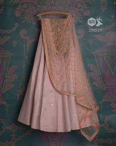 SMF LEH 250 17 I Grey rose badla lehenga with babypink moti mirror dupatta and floral threadwork blouse Pakistani Dresses, Indian Dresses, Indian Outfits, Indian Clothes, Ethnic Outfits, Casual Outfits, Designer Bridal Lehenga, Indian Bridal Lehenga, Indian Attire