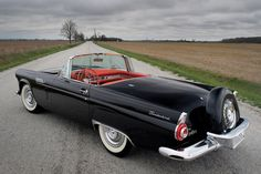 Ford Thunderbird, 1956 is printed with premium inks for brilliant color and then hand-stretched over museum quality stretcher bars. Money Back Guarantee AND Free Return Shipping. Ford Thunderbird, F150 Truck, Ford Trucks, Convertible, Royce Car, First Time Driver, Best Muscle Cars, Automobile Industry, Cars