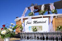 Wedding in Hot Air Balloon Basket