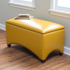 Belham Living Hutton Leather Indoor Storage Bench for foot of bed ($150 on sale)
