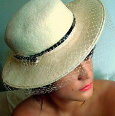 Gorgeous M sieu Leon Brimmed Hat by AntiqueAlchemists on Etsy, $55.00
