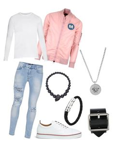 """""""He's fine and mine"""" by milanedmonds-1 on Polyvore featuring Topman, Maharishi, Derek Rose, Thom Browne, Alexander McQueen, Raf Simons, Versace, men's fashion and menswear"""