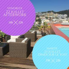 #ECOHOTELS #SWD #GREEN2STAY  Hi Hôtel  Notre programme du week-end sur le rooftop du Hi Hotel : Vendredi 22 juillet - Afterwork de 18h à 22h : Assiettes à partager à partir de 14€ Samedi 23 juillet - Dîner avec menu spécial à 38€ Réservation au 04 97 07 26 26 Hi Hotel : 3, avenue des fleurs - Nice   http://green2stayecotourism.webs.com/europe-eco-hotels
