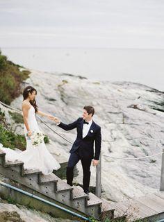 Love this photo: http://www.stylemepretty.com/2015/03/03/modern-nautical-newport-wedding/ | Photography: Judy Pak - http://judypak.com/