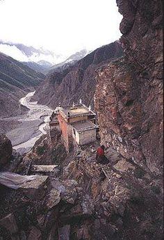 Drakar Taso Hermitage, where Milarepa meditated during the latter part of his…