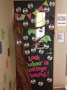 3rd Grade's a Hoot career day door decor