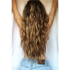 Waist length or longer curly/wavy hair inspiration pictures? ❤ liked on Polyvore featuring hair
