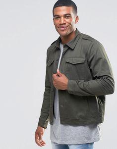 New+Look+Military+Shirt+Jacket+In+Khaki