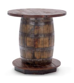 Old Fitz Reclaimed Whiskey Barrel Table...