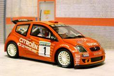 Scalextric Tecnitoys 6166. Citroen C2 JWRC. Rallye de Aviles. Miguel Angel Fuster Martínez-José Vicente Medina. #slotcar