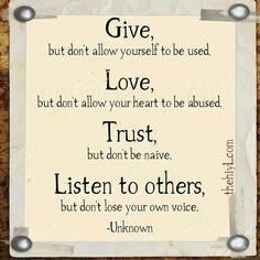 Sage Advice....
