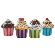 Confections 4Pc Set Cupcake Dishes