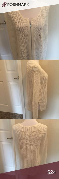 Rachel Roy cream cardigan sweater M Beautiful crochet cardigan  Excellent condition  Size medium RACHEL Rachel Roy Sweaters Cardigans