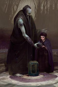 old wizard, Alexandr Komarov on ArtStation at https://www.artstation.com/artwork/GaKb4