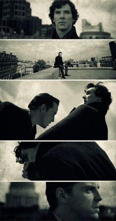 The Fall... such a fantastic edit. the acting in this scene is just spectacular. i could talk your ear off for hours. sherlock and moriarty in reichenbach fall <3