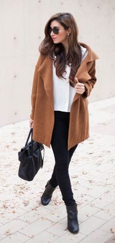 #winter #fashion / camel cardigan