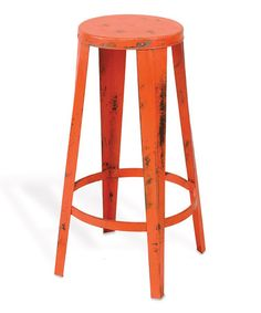 Take a look at this Persimmon Vintage Studio Stool by Foreside on #zulily today!