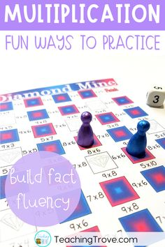 Multiplication games give students the fun practice they need to learn their multiplication facts. They can be use in math centers, partner work, morning work, extra activities for early finishers, or homework. #multiplication #multiplicationgames