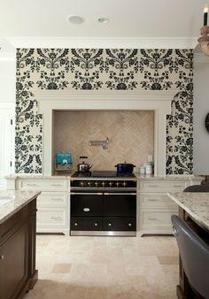 ideen für wandgestaltung wohnzimmer gestalten moderne feuerstelle ... - Küche Wandgestaltung Ideen