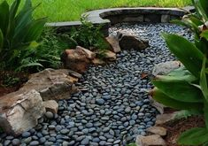 downspout creek bed | dry creek bed drainage for downspout - Google Search