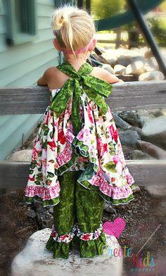 open back ruffle dress pattern at Create kids couture!Sophia's open back ruffle dress pattern at Create kids couture! Sewing For Kids, Baby Sewing, Sew Baby, Sewing Clothes, Diy Clothes, Dress Sewing, Ruffle Dress, Baby Dress, Ruffle Pants