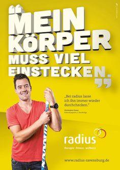 Radius Anzeigenkampagne | Design: zurgams Corporate Design, Wellness, Fitness, Communication, Brand Design, Branding Design