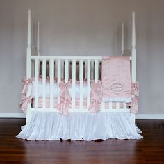 Luccia Silk Crib Linens by Olena Boyko, Crib Bedding Sets,Personalized Items, Bedding for Girls