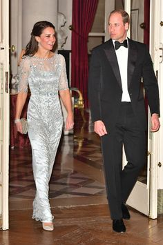 Prince William, Duke Of Cambridge and Catherine, Duchess of Cambridge arrives for a dinner hosted by Her Majesty's Ambassador to France, Edward Llewellyn, at the British Embassy in Paris, as part of their official visit to the French capital on March 17, 2017.