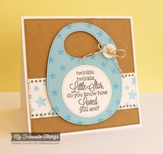 Beautiful Baby, Star Background, Baby's Bib Die-namics, Blueprints 14 Die-namics Stitched Circle STAX Die-namics, Cloudy Day Stencil - Debbie Carriere #mftstamps