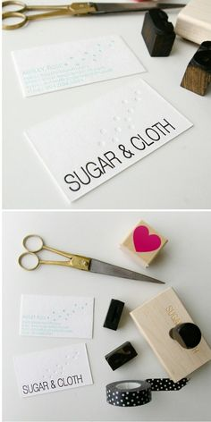 sugar and cloth personal business card design, printed by Eat Sleep Ride Print