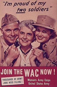 """""""I'm in this war too!"""" – A Collection of 48 Popular U. Army Women's Recruiting Posters During World War II Vintage Ads, Vintage Posters, Vintage Advertisements, Women's Army Corps, Pinup, Ww2 Propaganda, Army Women, Ww2 Women, Ww2 Posters"""