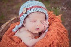 gray  brick baby  boy knitted hat newborn by PreciousLittleBaby, $17.99