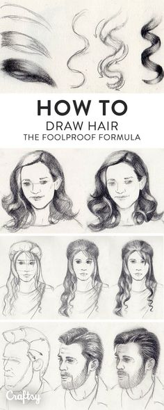 Drawing hair can be confusing, especially when you consider all the different styles. Learn how to draw hairstyles of all kinds with our tips and tutorials. #Drawingtips