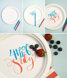 DIY 4th of July paper plates
