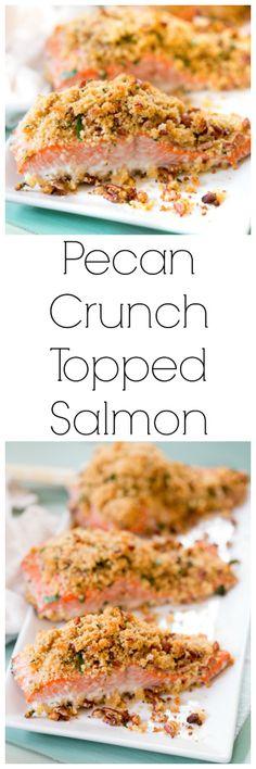 Pecan Crunch Topped Salmon