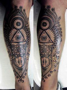 leg sleeve tattoos for men - Google Search
