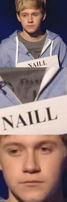 Remember that time when they spelled his name wrong and Niall kinda just...