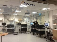 תמונת סטרטזיס - עיצוב מפת פיזור משרדים כאלמנט עיצובי  מספר 58 - גלרית אינפוגרפיקה, איקונים ומפות - גליה ארז - מיתוג | עיצוב | שילוט