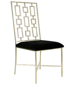 David Silver or Gold Back Dining Chair – Allissias Attic & Vintage French Style