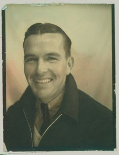 +~ Vintage Photo Booth Picture ~+  Handsome as can be.