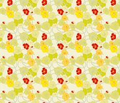 Nasturtiums fabric by anntuck on Spoonflower - custom fabric