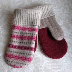 repurposed sweaters...mittens