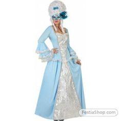 Déguisement princesse baroque bleue femme