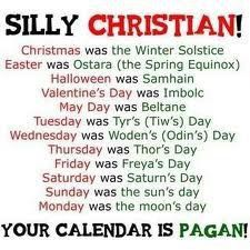 All of the items listed in #1 are of Pagan origins and pertain to Pagan RITUALS, including the date of December 25, which is the Pagan celebration of the Winter Solstice. Description from 777denny.wordpress.com. I searched for this on bing.com/images