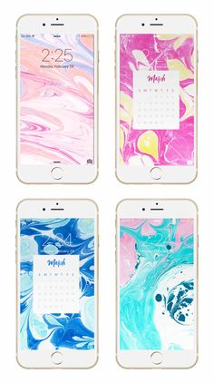 March marble phone + desktop background wallpapers from May Designs for #iphone, #apple and #android!