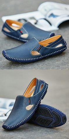 online retailer 84702 cdd8f 25.42 49% de DESCUENTO Aliexpress.com  Comprar 2017 recién llegado de  tamaño grande verano hombres zapatos de conducción de cuero genuino buena  calidad ...